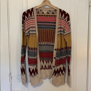 Mossimo Supply Co Colorful Geometric Cardigan